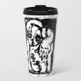 Lonesome Saint - b&w Travel Mug