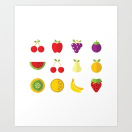 One Fruit A Day Keeps The Doctor Away Art Print