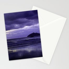 Mission Beach Sunrise in Purple Stationery Cards