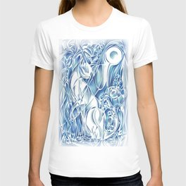 Cat By Moonlight - Persephone T-shirt