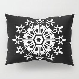 Snowflake Medallion B&W Pillow Sham