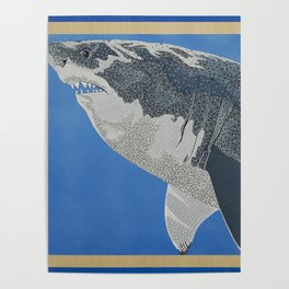 Fool Like You For Breakfast- Great White Shark Poster