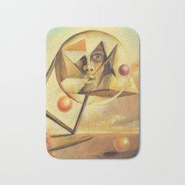 Illuminati Confirmed Geometric Painting By R.G. Kasper Bath Mat