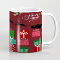 xmas Mugs featuring Xmas by JuniqueStudio