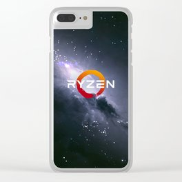 RYZEN logo Clear iPhone Case