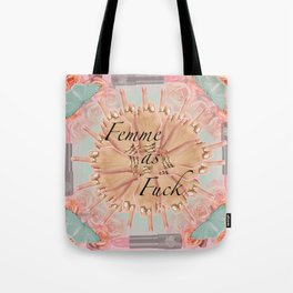 Femme as Fuck (ornate and pastel) Tote Bag