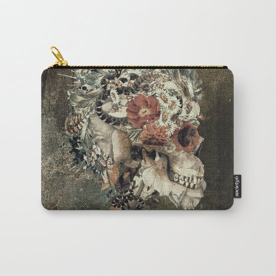 Skull on old grunge Carry-All Pouch