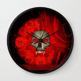 Awesome skull with celtic knot Wall Clock