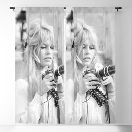 Brigitte Bardot with Camera Blackout Curtain