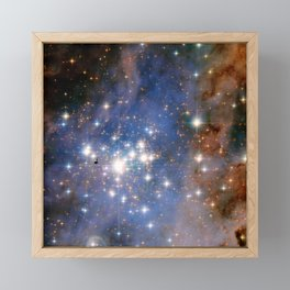 Star cluster Trumpler 14 in the Milky Way (NASA/ESA Hubble Space Telescope) Framed Mini Art Print