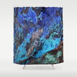 Malachite Mineral Stone rustic decor Shower Curtain