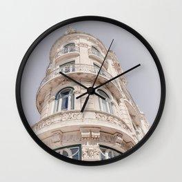 Art Nouveau Architecture Art Print   Portugal Architecture Photography   Lisbon Building Wall Clock