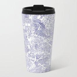 Illustrated map of Berlin-Mitte. Ink pen design Travel Mug