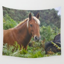 Wild Palomino Flaxen-maned New Forest Horse Wall Tapestry