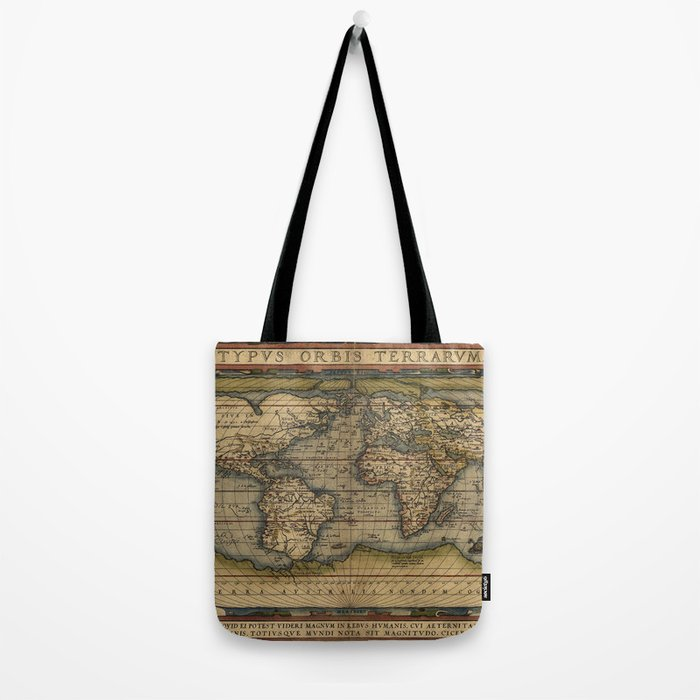 Antique Map of North and South America Tote Bag