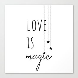 Love is Magic Canvas Print