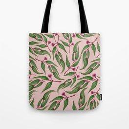 Pink Eucalyptus Pattern Tote Bag