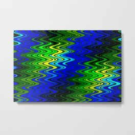 WAVY #2 (Blues, Greens & Yellows) Metal Print