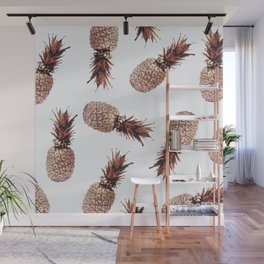 Floating Pineapples - Rose Gold Wall Mural