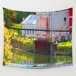 Pointillism: Snoqualmie Falls Wall Tapestry