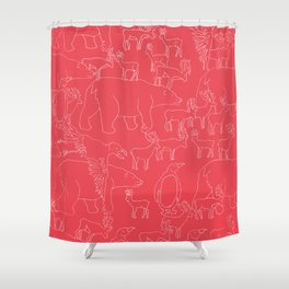Global warming and animal migration 04 Shower Curtain
