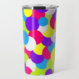 Neon Color Swatches Travel Mug