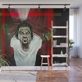 Tech N9ne Painting in Acrylics Wall Mural