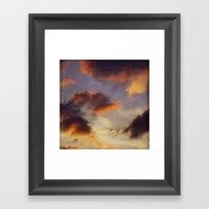EvEninG clouDs Framed Art Print