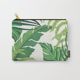 Green tropical leaves II Carry-All Pouch