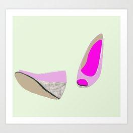 Pink shoe Art Print