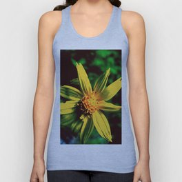 Vintage Yellow Flower Unisex Tank Top