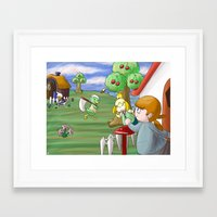 animal crossing Framed Art Prints featuring Animal Crossing by timehwimeh