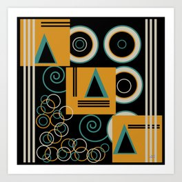 Modern Aztec Art Print