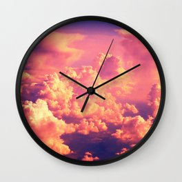 The Clouds at Sunset Wall Clock