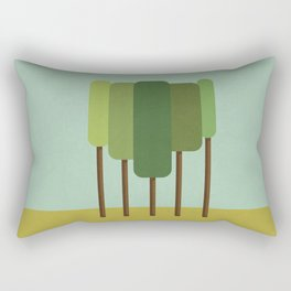 Green Summer Forest Rectangular Pillow