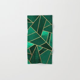 Emerald and Copper Hand & Bath Towel