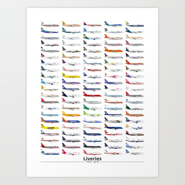 Liveries (by name) Art Print
