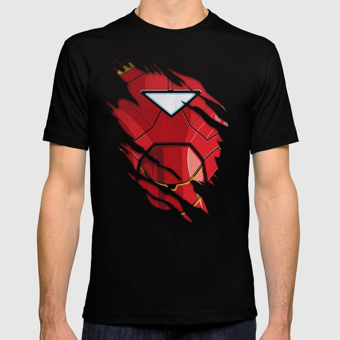 ironman ripped t shirt by parasdpain society6