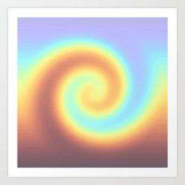 Rainbow twirl Art Print