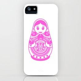 Russia Matryoshka doll Matryoshka udssr Russia iPhone Case