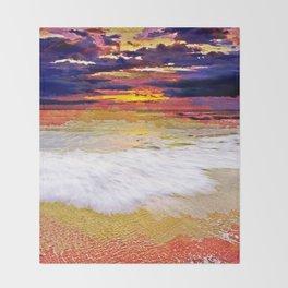 Sunset Beach Throw Blanket