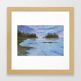Maine Purple Sunset Cove Print Framed Art Print
