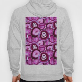 Geode Slices No.1 in Pink Agate Hoody