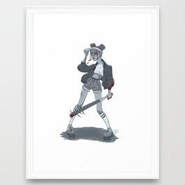 Roller skater Framed Art Print