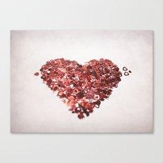 My Confetti Heart Canvas Print
