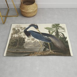 Louisiana Heron from Birds of America (1827) by John James Audubon, etched by William Home Lizars Rug