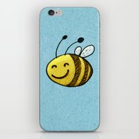 bee iPhone & iPod Skins featuring Bee by MaComiX