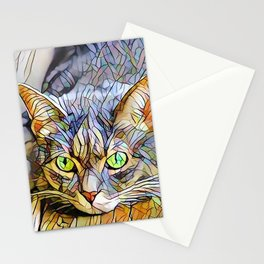 The TABBY II from our FUNK YOUR FELINE line Stationery Cards