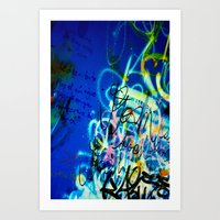 poem Art Prints featuring POEM by soem2014