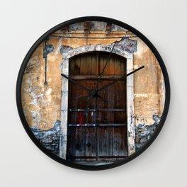 Sicilian facade of Taormina Wall Clock
